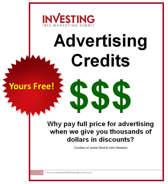 We've arranged to get you massive advertising discounts to top financial traffic sources