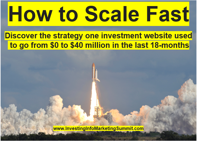 How to scale fast